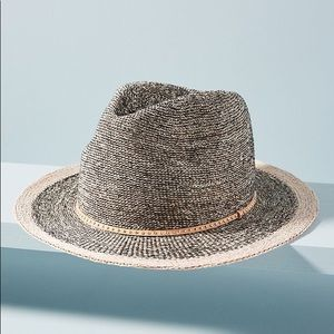 Anthropologie Nubby banded rancher hat EUC
